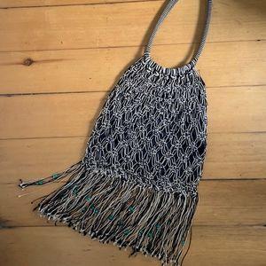 Vintage Crocheted & Beaded 70's Era Purse